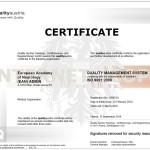 QM Certificate