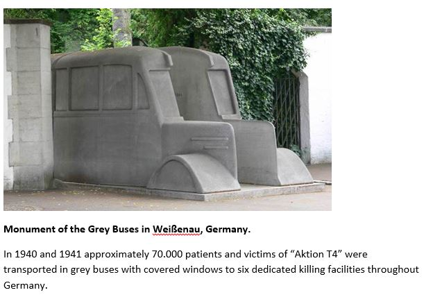 Monument of the grey buses