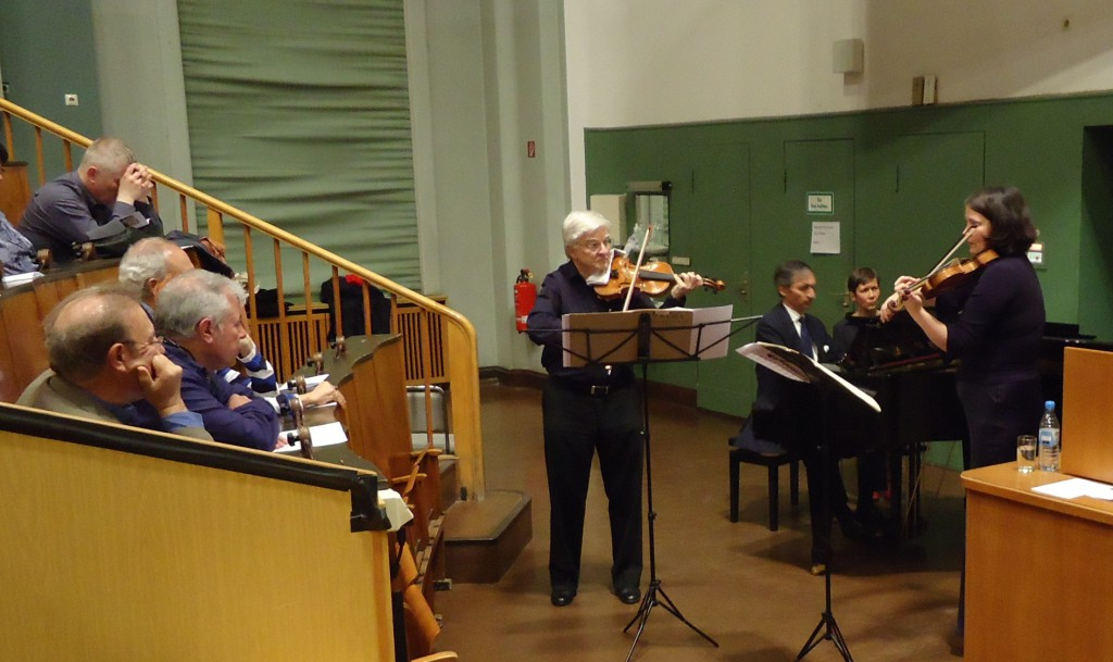 Professor Klaus Toyka, Frank Lubnow and Daniela Braun  performing the Vivaldi Double Concerto in a-Minor