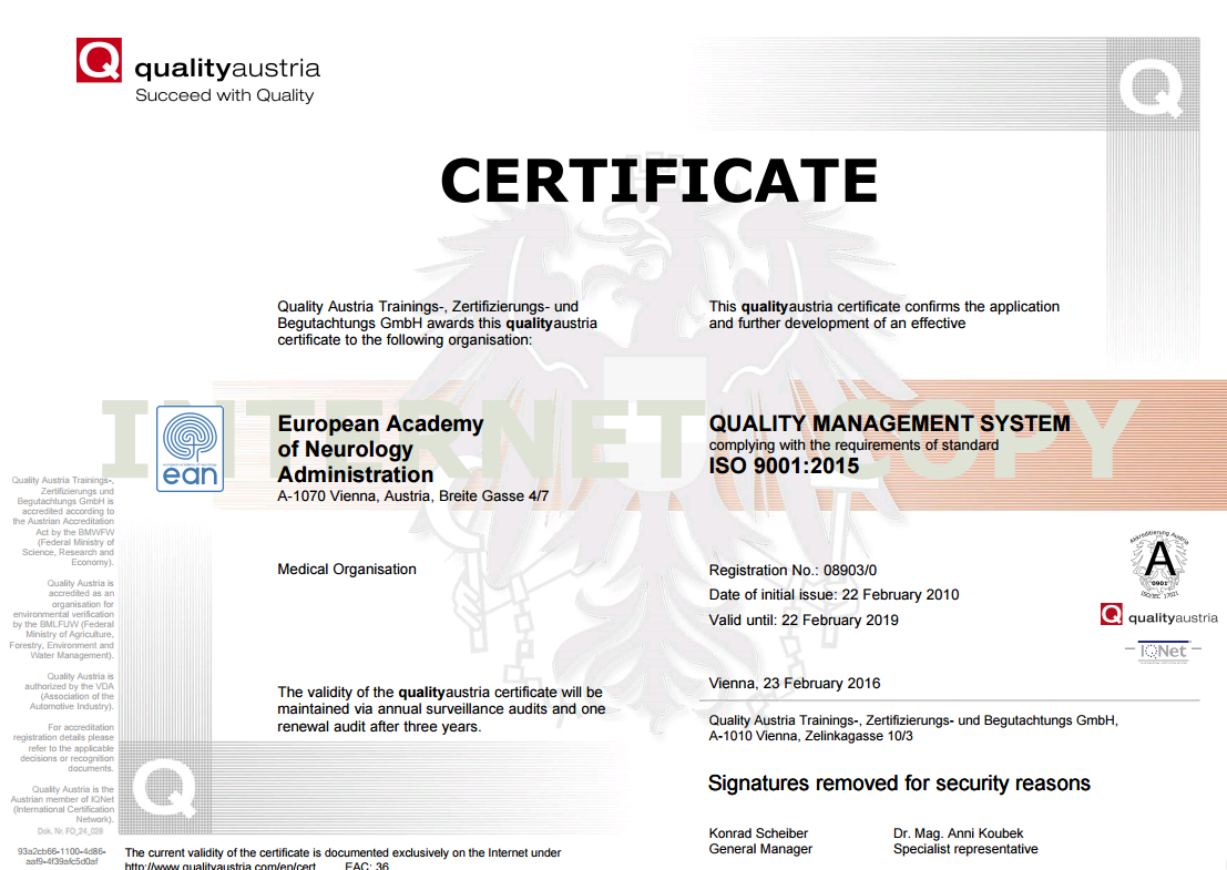 Quality Management Certificate Iso 90012015 Certification Eanpages