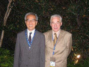 The retiring and the comingPresident of the World Federation of Neurology in 2005 - Prof. Jun Kimura and Prof. Johan Aarli.