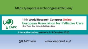 11th World Research Congress of the European Association of Palliative Care - Rescheduled and online @ Virtual