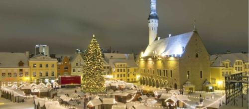 The Estonian word for Christmas is jõulud and of ancient Scandinavian origin and comes from the word jul, which has no connection to Christianity.  Scandinavia and Estonia form the only part of Europe where the birth of Christ is marked by the pre-Christian word jul. For thousands of years, these nations have celebrated winter and summer solstices, which are also known as Christmas and Midsummer Night (23/24 June).