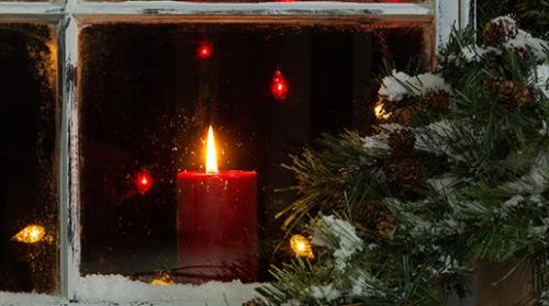Ireland shares many Christmas traditions with the UK and US, but also have a few of their own. The lighting of thick, tall candles on the sill of large windows after sunset on Christmas Eve is an old Irish custom. The candles are left to burn all night to provide a welcoming light for Mary and Joseph.