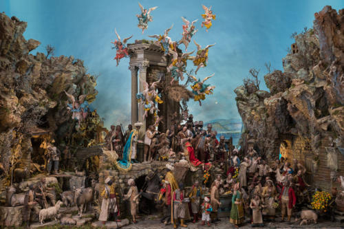 Nativity cribs are an important Italian custom and the city of Naples is world famous for its cribs and crib making. Cribs are usually put out on the 8th of December, but the figure of Baby Jesus is not put into the crib until the evening of the 24th of December.