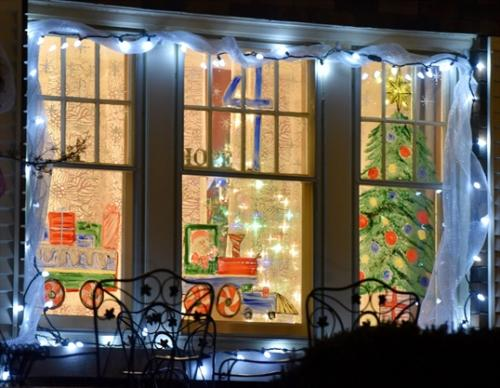 Advent calendars are very popular in Switzerland. In some villages, there are 'real' advent calendars: different houses decorate one Advent Window. When it's their turn to decorate the window, the family hosts a party for the villages with food, mulled wine and music.